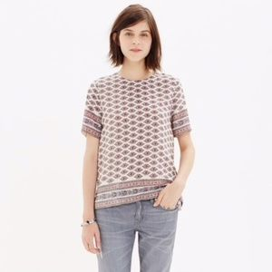 MADEWELL Silk Refined Tee In Diamond Floral Size M